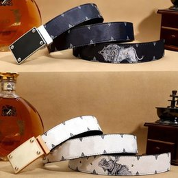 Wholesale Men S Real Leather Belts - 2018 Fashion Animal Pattern Men and Women Designer Belts European Style waistbands High Quality Real Leather for gift
