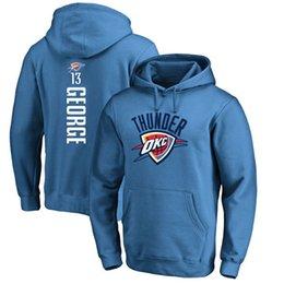 Wholesale Oklahoma City - 17-18 season basketball OKLAHOMA CITY Hoodies 0 Westbrook 13 George 7 Anthony any CUSTOM NAME AND Number SWEATTHIRTS