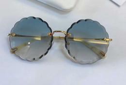 2019 gafas de sol ce Señoras CE 142S gafas de sol redondas de metal dorado / azul gradiente 60 mm Sonnenbrille gafas Occhiali da única gafas de verano al aire libre Nuevo con caja rebajas gafas de sol ce