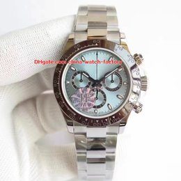 Wholesale mm ceramics - 6 Style Topselling Best JF Factory 40mm Cosmograph 116506 116500 116520 116509 Chronograph Swiss CAL.4130 Movt Automatic Mens Watch Watches