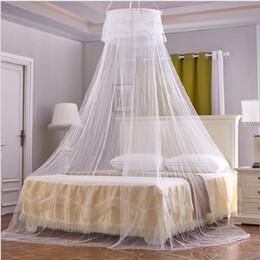 Erwachsene Prinzessin Betten Rabatt Hang Round Moskitonetze Für Erwachsene  Betten Zelt Bettwäsche Mesh Spitze Vorhänge Baldachin