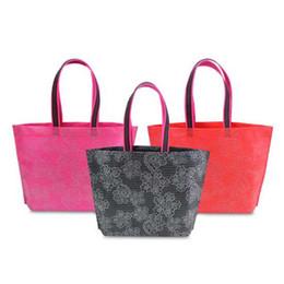 Wholesale Thick Zip Bag - New Women Lady Foldable Shopping Bag Waterproof Thick Handbag Casual New Portable Large Capacity Zip Nylon