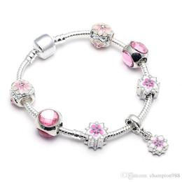 Nlm99 2018 i monili del braccialetto Pendora nuovo stile di colore rosa Magnolia sospensione per il commercio all'ingrosso del braccialetto di modo delle donne da bracciali infinty fornitori