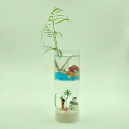 Wholesale Glass Table Vase - Double-deck Cylinder Clear Glass Flower Vase Table Bottle Container