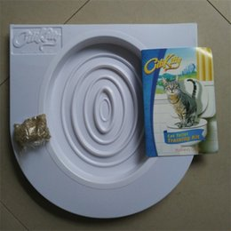 Wholesale cat toilets - Citi Kitty Go To The Toilet Mat Seat Cushion Behavior Training Citikitty Suite Pet Cat Disc Plastic White Creative 12pd V