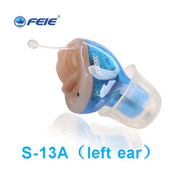 Wholesale ear digital hearing aid - In Ear Mini Digital Hearing Aids Assistance Adjustable Sound Amplifier Rechargeable Hearing Aid For Deaf People Ear Care S-13A