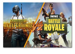 Wholesale print painting pictures - Free DHL 30*45CM Wholesale NEW Hot Game Fortnite Battle Royale Game Poster Wall Painting Posters Prints on Canvas Art Wall Pictures 100PCS