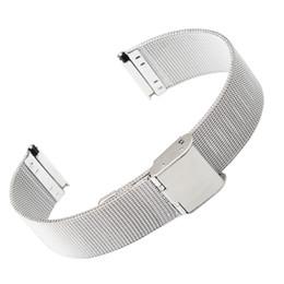 Wholesale Mesh Bracelet 22mm - ultra-thin Stainless steel Watchband Mesh strap silver bracelet 8mm 10mm 12mm 14mm 16mm 18mm 20mm 22mm 24mm Bracelets Watch band