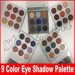 Wholesale eyes shadow collection - Fall Collection Kyshadow eyeshadow Pressed Powder Eye shadow Palette Bronze Burgundy holiday the purple palette blue honey Makeup 9 Colors