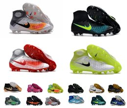 Wholesale 12 Mens Boots - 2018 Factory Price New Mens Women Kids 3D Magista Obra II FG AG Soccer Shoes Turf Soccer Cleats Football Boots Sneakers Shoes