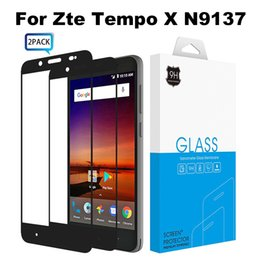 Wholesale Cover Zte Grand X - 2 Pack Full Cover Screen Protector For Zte Tempo X N9137 Grand X4 Z956 Blade Spark Z971 Tempered Glass With Luxury Retail Packing