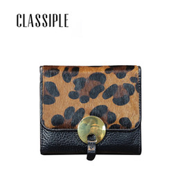 daacde37c Wallet Women Genuine Leather Short Hasp Leopard Horse Hair Real Leather  Womens Wallets Small Girls Purse Ladies Purses Monedero