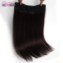 2019 hebilla del pelo extensiones 9A Clip en extensión de cabello humano cabelo humano Clip de una pieza en extensiones de cabello 100G recto, más oscuro, marrón brasileño, cabello humano hebilla del pelo extensiones baratos