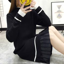 2019 abito invernale a maglia di lana Lungo pullover di donne di stile più  basso orlo 042d69a09ad