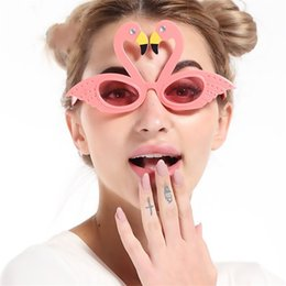 Wholesale Active Years - Funny Glasses Distinctive Beautiful Flamingo Swan Design Sunglasses For Masquerade Cosplay Props Party Active Tools High Quality 8sf Z