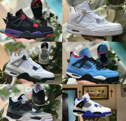 buy online e1ce3 3db5a Günstige 4 CACTUS JACK Travis x 4s Denim LS Jeans Houston Weißer Zement  Raptor KAWS IV Herren Basketball-Schuhe Pure GELD Royalty Sneakers rabatt  schuhe für ...