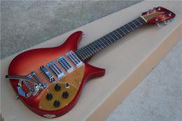 2019 tremolo de corda Frete Grátis Fábrica Personalizado 6 Cordas Vermelho Guitarra Elétrica, 527mm Escala de Comprimento, Rosewood Fingerboard, Tremolo Sistema, guitarra de violão desconto tremolo de corda