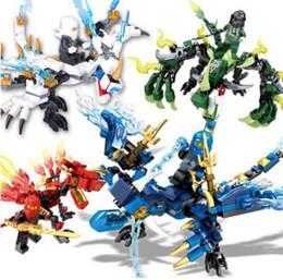 4 шт. / компл. Ninjagoes Dragon knight строительные блоки ниндзя кирпичи мини фигурки просветить игрушки для детей совместимость Legoing от