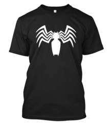 Chemise spiderman blanche en Ligne-VENOM SPIDER LOGO T-shirt Spiderman tee-shirt tshirt T-shirt noir ou blanc imprimé vinyle