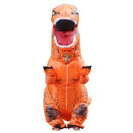 Canada Enfants T-REX Costume Gonflable Fête De Noël Mascotte Orange Jaune Dinosaure Animal Jumpsuit Halloween pour Enfants LJ-010 supplier yellow party jumpsuit Offre