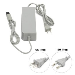 Wholesale Free Nintendo - US EU Plug AC Adapter Power Supply Cord Cable Charger 12V 3.7A For Nintendo Wii System Console DHL FEDEX FREE SHIPPING