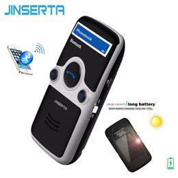 JINSERTA A6 Kit mains libres solaire Bluetooth pour voiture Transmetteur FM stéréo Multi-langues Écran LED Affichage Bluetooth Haut-parleur Haut-parleur ? partir de fabricateur
