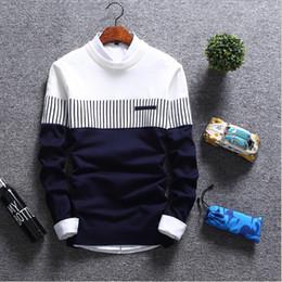 2019 streetwear coréen Chandails pour hommes 2018 automne hiver nouvelle mode  streetwear couture homme tricot chaud f90360d0db8