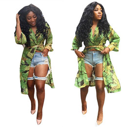 Wholesale Panel Covers - Fashion V-Neck Floral Cardigan Dress Long Sleeve Chiffon Blouses Slim Women Chiffon Sun Shirts Bikini Blouse Beach Cover Up