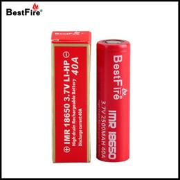 Batería bestfire online-100% original Bestfire 18650 Batería Vape E Cigarrillo Batería recargable 2500mAh 35A para alien 220w AL85 mag kit100% Original Bestfire 186