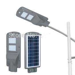2020 sensore fotocellula di illuminazione Lampione stradale a LED solare 60W 40W 20W (Sensore radar + Sensore fotocellula) Illuminatore a led Steet Lights Impermeabile Outdoor Garden Park Road Path sconti sensore fotocellula di illuminazione