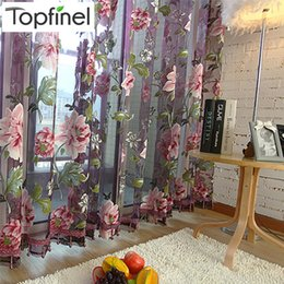 2019 фиолетовые шторы для спальни Top Finel Purple Tulle for Windows  Sheer Curtains for Kitchen Living Room The Bedroom Window Treatments Panel Draperies дешево фиолетовые шторы для спальни