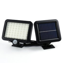 Wholesale Motion Detection Lights - Hot Selling Solar Led Powered Garden Lawn Lights Outdoor Infrared Sensor Light 56 LED Solar Motion Detection Wall Light