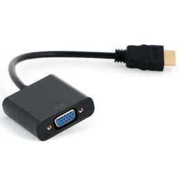 2019 ide vga converter 1080P HDMI к VGA конвертер адаптер с аудио USB кабель для ПК 10 шт./лот Бесплатная доставка