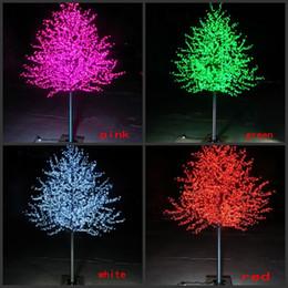 2019 fiore m LED Artificiale Cherry Blossom Tree Light Luce di Natale 480 ~ 2304 pz LED Lampadine 1.5m ~ 3m Altezza 110 / 220VAC Antipioggia Uso Esterno Shippin gratuito fiore m economici