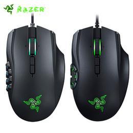 Wholesale Gaming Mouse Lights - Wholesale-Razer Naga Chroma   Naga Hex V2 16000 DPI MMO  MOBA Gaming Mouse Mechanical Programmable Thumb Buttons Chroma Lighting