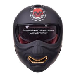 Hochklappen Motorrad Helm Modular Helm Motorräder Chopper Retro Biker Vintage Cruiser Schädel Integralhelme von Fabrikanten
