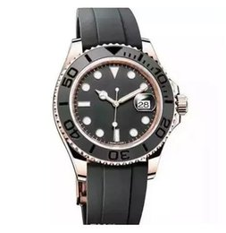 Wholesale mens automatic watch master - New luxury watch yacht AAA master Ceramic Bezel Mens Mechanical Stainless Steel Automatic Movement men Watch Sports mens reloj Watch