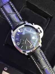 Wholesale Leather Top Table - Top luxury AAA man high-end wrist watch mechanical double calendar wristwatch stainless steel table leather strap free freight