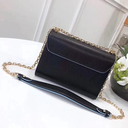 Wholesale Type Ladies Dress - Top quality new Luxury Fe***New Women Shoulder Bag romantic Colorful Rivets Kan I same type Genuine Leather Ladies Cross Body Bag Twist lock
