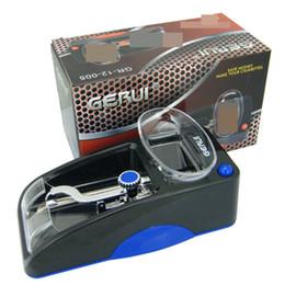 Wholesale Electronic Cigarette Rolling - Tobacco Automatic Machine Electronic Electric Rolling Roller GERUI Cigarette USA EU Charging Injector Maker Tool for empty Cigarettes