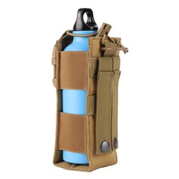 tactical molle pack 2018 - Outdoor Camping Tactical Elastic Bottle Bag Multifunctional Outdoor Sports Cup Water Bag Set Molle Accessory Camping Waist