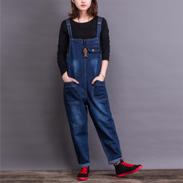 ebde6150ccbb 2017 Jeans Fashion Loose Plus Size S-6XL Pants For Women High Quality Overalls  Jumpsuit And Rompers Denim Trousers
