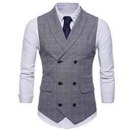 Chaleco de negocios de primavera Ropa de hombre para hombre Chaqueta de otoño Casual hombres Inglaterra Chaleco de traje con bolsillos Prendas de abrigo Chaleco Hombre desde fabricantes