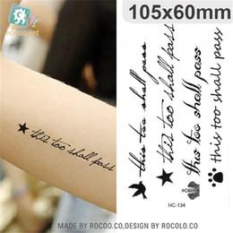 2019 tatuagens à prova de água Arte do corpo à prova d 'água temporária tatuagens de papel para homens mulheres moda 3d Inglês carta design flash tattoo sticker HC1134 desconto tatuagens à prova de água