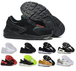 Wholesale Roses Man - Newest Air Huarache I Running Shoes For Men Women,Green White Black Rose Gold Sneakers Triple Huaraches 1 Trainers huraches Sports Shoes