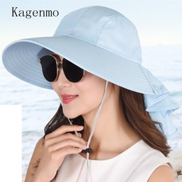 Kagenmo 2018 Summer Fashion Women Sun Hat Sunscreen Big Brim Female Cap  Leisure Outdoor Shopping Hat Cute Lady Sunbonnet Cool b1d95aba315b