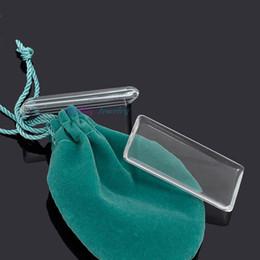 Deutschland 10 stücke modeschmuck 24mm * 48mm (5mmThick) Klar Rechteck Lupe cabochon für anhänger tablett diy foto Versorgung