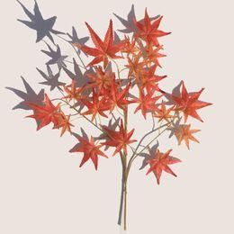 Fiori di albero di acero online-Simulazione Green Planting Plastic Artificial Flower Red Maple Leaf Big Tree Decorare Silk Branch Party Decor 3 6dd Ww