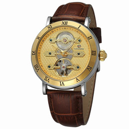 Tourbillon orologio meccanico online-Nuovo arrivo Tourbillion Obscure Designer impermeabile in vera pelle Mens Watch meccanico automatico Self Wind Watch Clock Nuovo