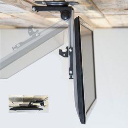 Titular de televisão on-line-Dobrável Teto Do Carro 17-37 polegada Tela LED Monitor LCD Titular TV Suporte de Montagem Na Parede TV Cabide Rack Titular TV